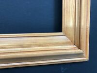 "Hard to Find Size  12"" x 24""  -Slightly Rustic  - Wood Picture Frame."