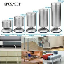 4pcs 8 to 20cm Stainless Steel Furniture Legs Adjustable Cabinet Sofa Table Feet
