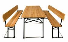 Deuba 991551 Bierzeltgarnitur mit Rückenlehne und Tisch 170x70x75cm