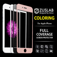iPhone 8 7 6 6S Plus ZUSLAB Coloring Tempered Glass Screen Protector For Apple