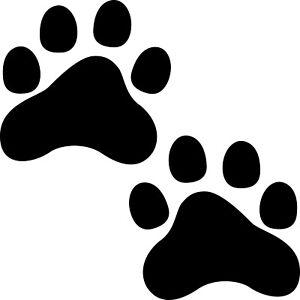 2 Paws 6cm Black 1 Pair Paws Base Sticker Cat Dog Tattoo Decoration Film