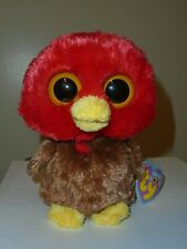 NM/NMT* Ty Beanie Boos - GOBBLES the Turkey (Original Version)(6 Inch) NMWNMT