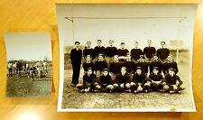 1926 BOYS FOOTBALL TEAM at goalpost WESTWOOD NJ HIGH SCHOOL Antique Photographs