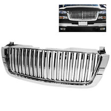 Chevy 03-06 Silverado Avalanche Chrome Front Grille 1pc Center Verticle Style