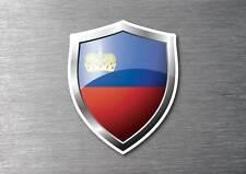 Liechtenstein flag shield sticker 3d effect quality 7 year water & fade proof