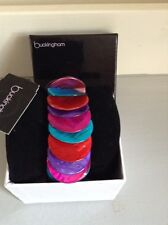 "DEBENHAMS ""BUCKINGHAM"" MULTI COLOURED EXPANDABLE BRACELET - BOXED"