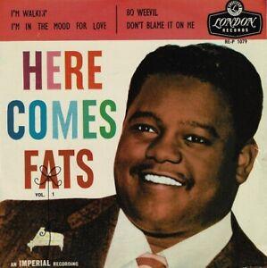 FATS DOMINO Here Comes Fats Vol. 1 EP Vinyl Record Single 7 Inch London 1957 R&B