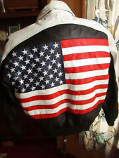 SMALL Vtg Michael Hoban Wheremi Red White Blue USA Olympic Flag Style Jacket