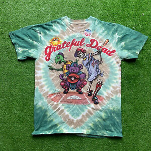 Vintage Grateful Dead Baseball Liquid Blue REPRINT Band Skeleton Shirt Size M
