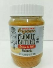 2 PACK TRADER JOE'S ORGANIC Peanut Butter Creamy No Salt Valencia 1 lb Each