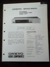 Onkyo Service Manual for the T-4017 Tuner ~ Repair Manual