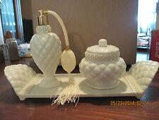 Elegant Vanity Porcelain & Faux Pearl Set ...in ori. box....1999 ...by Avon