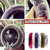Hot sales ! Car Accessories 38CM Elastic Soft & Warm Winter Steering Wheel Cover