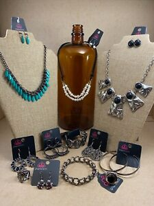 🔥 Paparazzi Jewelry 12pc LOT Necklace Earrings Bracelet Ring Turquoise Silver