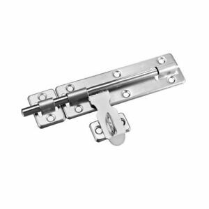 Sliding Bolt Gate Latch, 8-inch Stainless Steel Door Hasp with Padlock Hole