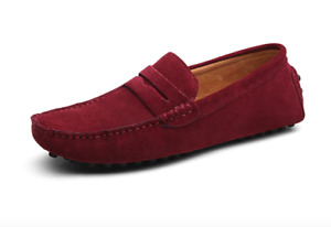 Plus size Men's Penny Casual Loafers Moccasins Shoes Driving Slip On Flats Shoes