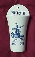 Blue White Vandermint Wall Pocket Holland Windmill Barware Advertise Swizzle
