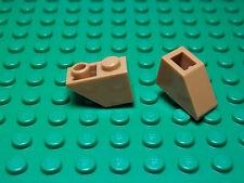 Lego NEW dark medium flesh 1 x 2 inverted slope pieces  Lot of 10
