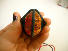 One  LED Amber/Red Innovative Fender Light Truck Trailer RV