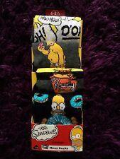 BNWT Official The Simpson's Set Of 4 Mens Boys Socks Homer Donut Krusty Sz 6-8.5