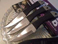 "Gil Hibben Silver Large Triple Throwing Knife/Knives Dagger Set GH0947 8 1/2"" OA"