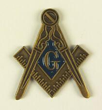 Masonic Large Square Compass Lapel Pin Mason Freemason