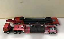 Rare Vintage Siku 1/50 Red Ford Tractor with Two Low Loader Trailers