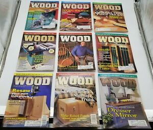 Lot of 26 Better Homes and Gardens Wood Magazine Home Woodworkers 1998-2000