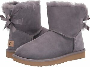 Women's Shoes UGG MINI BAILEY BOW II Slip On Ankle Boots 1016501 SHADE