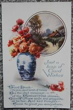 Early 1900's Heap of Good Wishes Christmas Postcard Wildt and Kray London