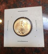 1999 American Gold Eagle Brilliant Uncirculated $10 Dollars 1/4 oz. fine gold