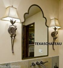 ARCHED BRONZE IRON WALL MIRROR TUSCAN OLD WORLD STYLE ARCH BATH BATHROOM VANITY