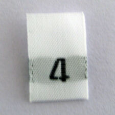 size 4 Four woven size labels-Qty 1000- tags tabs tab tag clothing sew apparel