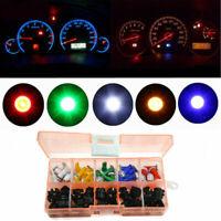 30pcs/Box T5 LED Twist Socket 5-Color Bulbs Lights Kit For Car Instrument Panel