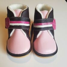 Caroch Toddler Girls Boots Size 10 Winter Booties Leather Fur Lining  NEW in BOX