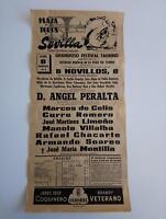 1963 Cartel Plaza de Toros Sevilla Festival Taurino Curro Romero Angel Peralta