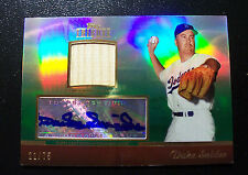 2011 Topps Tribute Duke Snider Auto autograph + game used Bat card. Serial /75