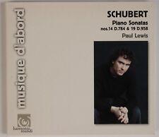 SCHUBERT: Piano Sonatas 14, 19, Paul Lewis HARMONIA MUNDI CD NM