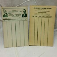 Vtg Advertising Corrigan Funeral Homes & Cochran Cleveland OH Card Score Sheets