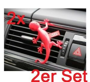 2x Audi Duftspender Duftgecko Gecko Rot Blumig-Herb Duft 000087009B