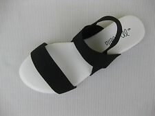 Marbella Womens Shoes NEW $38 Miami Black White Stretch Fabric Sandal 6