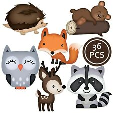 Woodland Creatures Cutouts - Great For Birthdays and Baby Showers 36 Piece Set