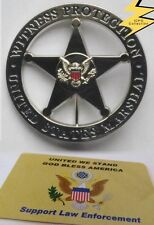 Obsolete Marshal Badge Replica pin back,Special operates The Witness Protection