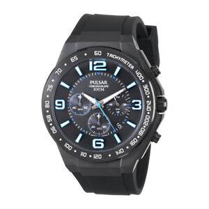 Pulsar Analog Sport Chronograph Black Mens PT3405