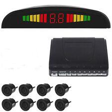 US-8 Parking Sensors LED Display Car Reverse Backup Radar System Kit Sound Alert