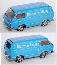 Siku Super 1331 VW Transporter Typ 2-Modell '80 T3 Wormser Zeitung Sondermodell
