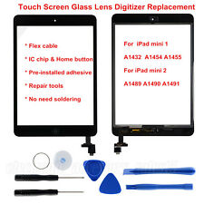 AU for iPad Mini 1 2 Touch Screen Glass Digitizer IC Chip Home Button Assembly