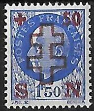 LIBÉRATION..RRR....AUXERRE...1f50+50c ** bleu..Sge Recto Verso...Signé.P..MAYER