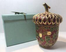 Enameled Cloisonne Acorn Jar NYCO Nicki Yassaman