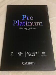 """CANON Photo Paper Pro Platinum 13"""" x 19"""" / A3+ (PT-101) 10 sheets"""